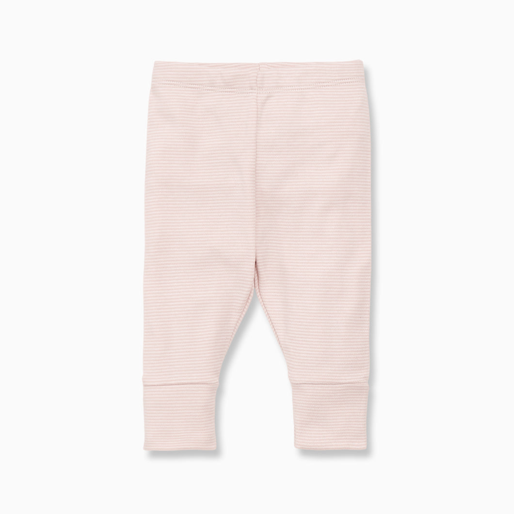 Pink stripe baby leggings