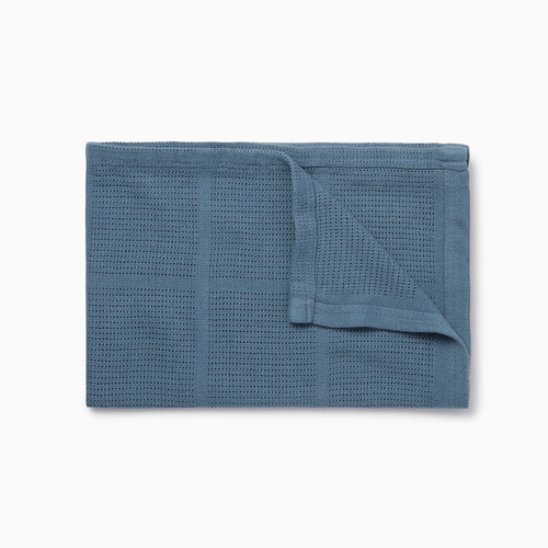 Blue Organic Cotton Baby Blanket MORI