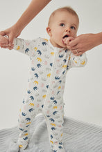 Load image into Gallery viewer, MORI Elephant Zip-Up Sleepsuit