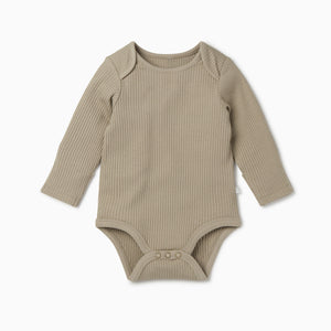 MORI Ribbed Long Sleeve Bodysuit 2 Pack