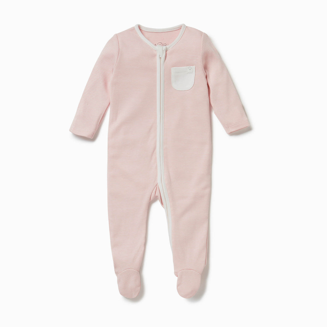 Organic cotton baby Mori sleepsuit