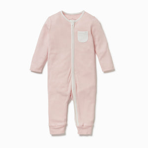 organic cotton footless babygrow