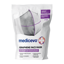 Load image into Gallery viewer, Medicevo Face Mask With Graphene, 5 pcs