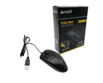 A4TECH computer mouse black OP-6200