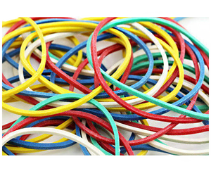 Arco round rubber band assorted color 350 grams