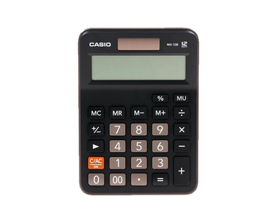 Casio mx12b calculator black