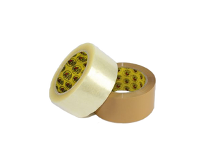 Crocodile packaging tape clear and tan