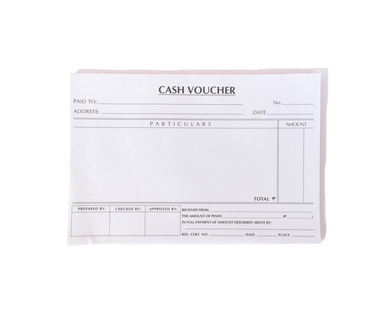 cash voucher pad