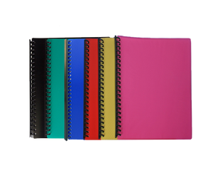Clearbook refillable spiral 23 holes size a4 assorted color
