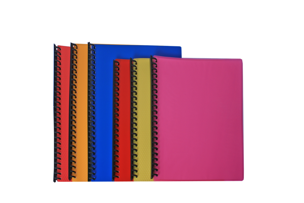 Clearbook refillable spiral 23 holes long short assorted color