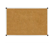 "Load image into Gallery viewer, corkboard with aluminum frame size 24"" x 36"""