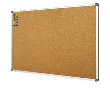 "Load image into Gallery viewer, corkboard with aluminum frame size 36"" x 48"""