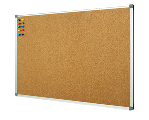 "corkboard with aluminum frame size 36"" x 48"""