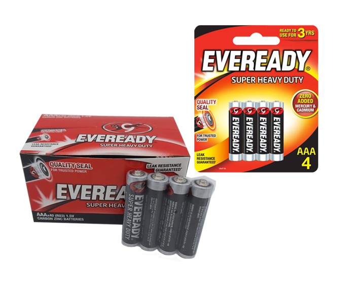 Eveready super heavy duty aaa batteries