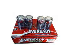 Load image into Gallery viewer, Eveready super heavy duty d batteries