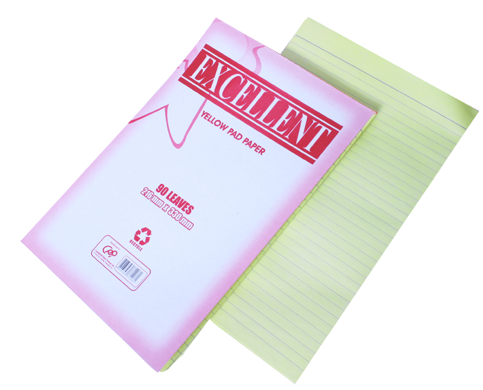 Excellent yellow pad paper 90 leaves 216mm x 330 mm