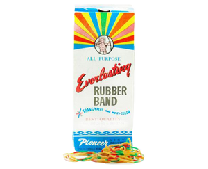Everlasting rubber band all purpose transparent and multicolor