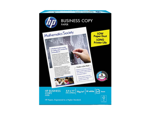 "HP office business copy paper s20 70gsm short 8.5"" x 11"""