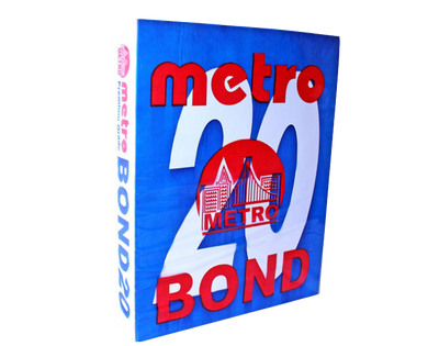 Metro bond paper s20 70gsm short 216mm x 280mm