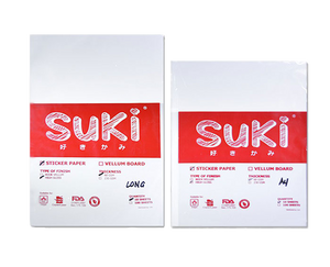 Suki Matte White A4 Sticker Paper