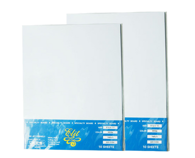Elit vellum board white long short 10 sheets