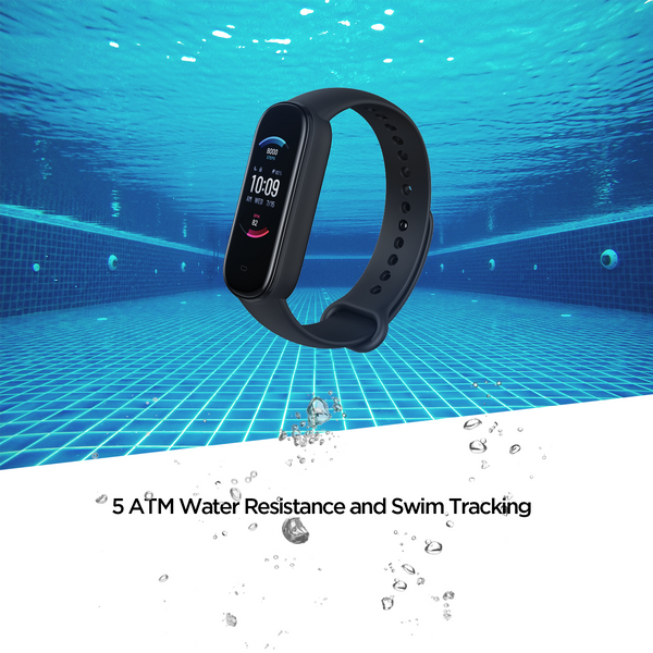 Amazfit Band 5 - Water Resistance fit band with swim tracking