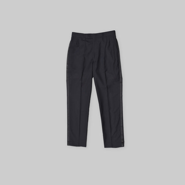 Made-to-Order Midnight-blue Wool Tuxedo Trousers