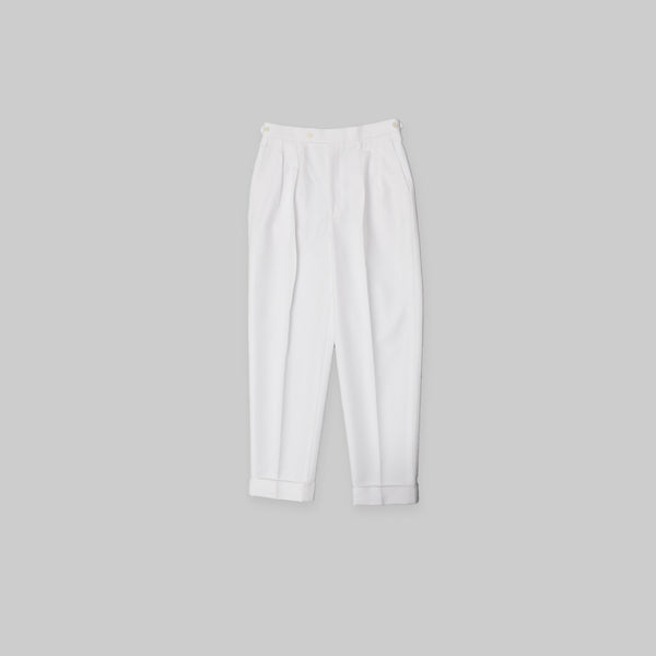 Made-to-Order White Cotton Trousers
