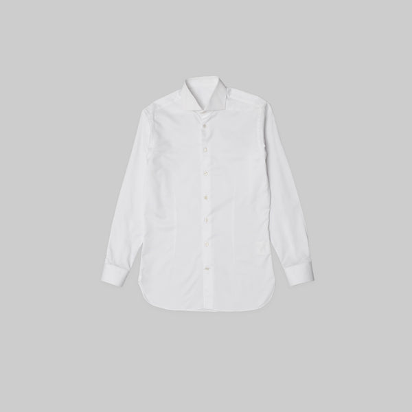 Made-to-Order Business White Long-sleeved Cotton Shirt