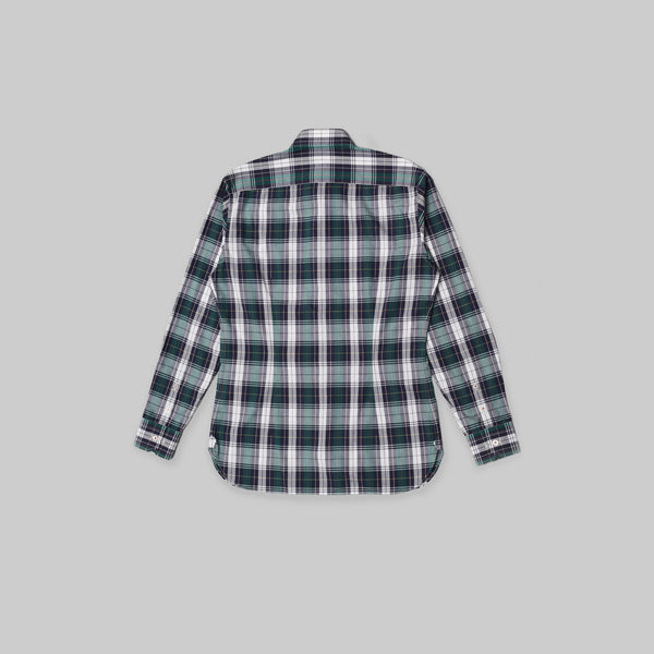 Made-to-Order Tartan Plaid Long-sleeved Cotton Shirt