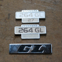Volvo 264 GL Fender and trunk emblems 2.7 76 77 78 79