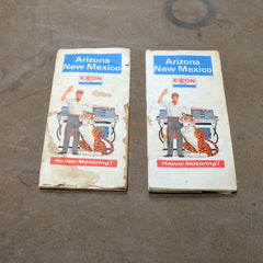 Exxon Mobile Arizona New Mexico Old Maps 1960's