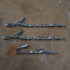 AMC Rambler American Custom emblems 62 63