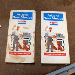 Arizona New Mexico Exxon Highway maps 70's