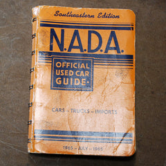 NADA Southeastern Edition July 1965 Official used car guide