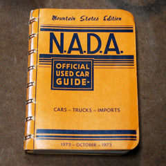 NADA Mountain State Edition October 1973 Official used car guide