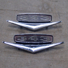 AMC Rebel Matador 343 V8 fender emblems 67 68 69