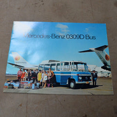 1970 Mercedes Benz 0309D Bus Dealer Sales Brochure