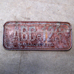 Massachusetts Bicycle Licence plate 1970's 1980's