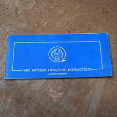 Imperial Crown owners manual 1965