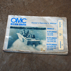OMC Boat Stern Drive owners manual 1960's 1970's