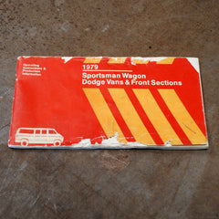 Dodge Sportsman Van Owners manual 1979