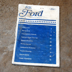 Ford Owners manual 1976