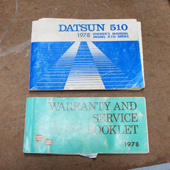 Datsun 510 78  1978 owners manual