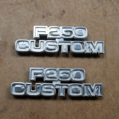 FORD F-250 F250 CUSTOM fender EMBLEMS 76 77 78 79