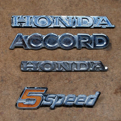 Honda Accord 5-speeed 76 77 78 79 80 81 emblems set