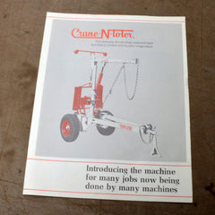 Crane N Toter Dealer Sales Brochure 1960's