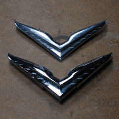 Chrysler hood and trunk wing V emblems 53 54