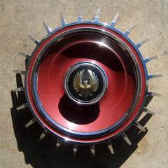 Imperial Crown Lebaron Coupe red hubcap center 1964 only