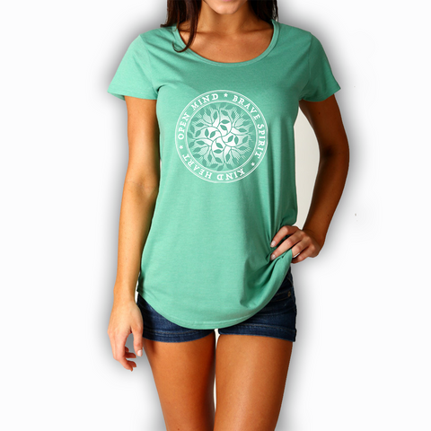 OPEN MIND, BRAVE SPIRIT, KIND HEART LADIES MALI TEE